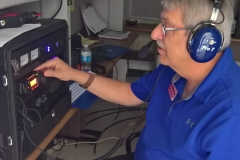 Gayland WX5MOR at the VHF station