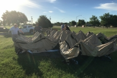Setting up the CW Operations tent on 06/16/2018