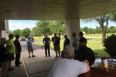 Pre-Setup safety meeting on Field Day Saturday 06/23/2018