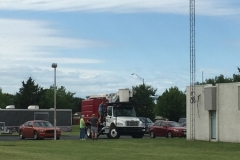 SSB station antenna erection preparations.